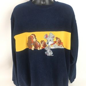 Disney store lady and the tramp men's sweater SZ L